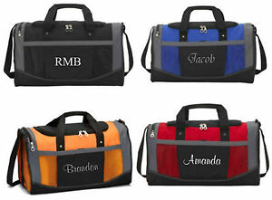 Image Is Loading Personalized Gym Bag Sports Duffel Carry On Groomsmen