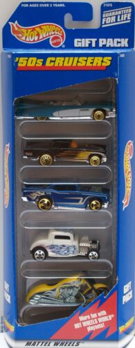 HOT WHEELS 1998  /'50S CRUISERS ELDORADO T BIRD CHEVY FORD SCORCHIN 5  CAR PACK