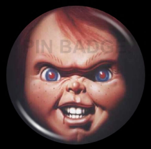 Chucky Doll Childs Play Pin Badge Horror Goth NEW