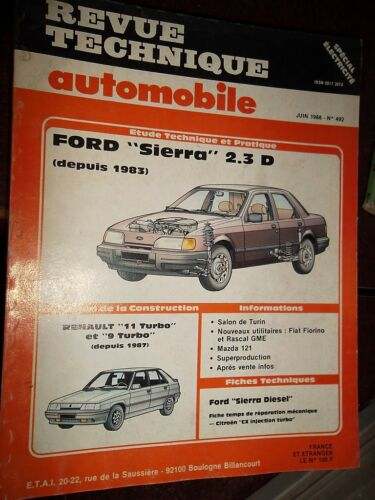 Ford SIERRA 2.3 Diesel dp 1983 revue tech RTA 492
