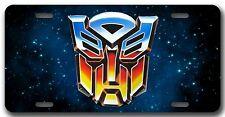 L@@K! Autobot Transformers  License Plate Vanity Auto Tag