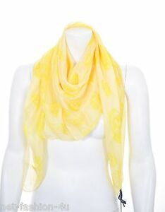 Classic Skull scarf - Yellow & Orange Alexander McQueen
