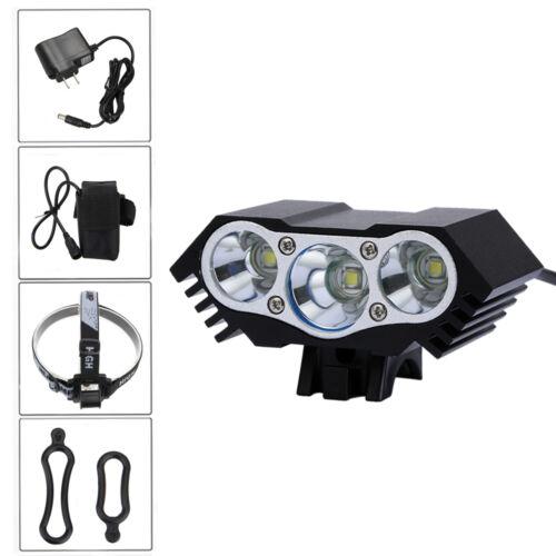 3x XM-L T6 LED Bicycle 10000 Lumens Head Lamp Bike Light Headlight Headlamp SETs
