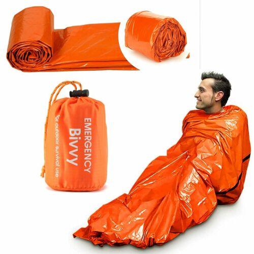 Details about  /Emergency Survival Waterproof Bivy Sack Thermal Mylar Sleeping Bag Outdoor New