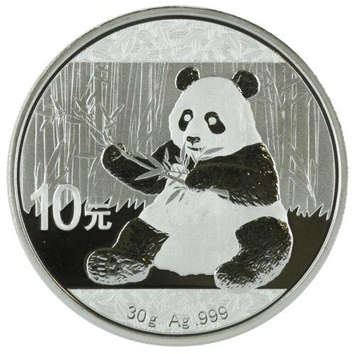 2017-30 gram Chinese Silver Giant Panda 10 Yuan .999 Fine BU