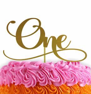 Admirable One Birthday Cake Topper First Birthday 1 Year Old Cake Topper Ebay Funny Birthday Cards Online Alyptdamsfinfo