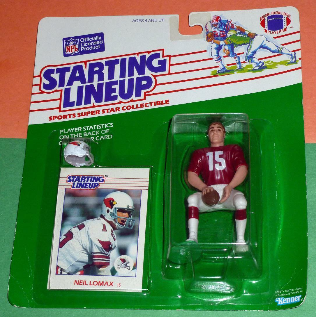 1988 NEIL LOMAX Phoenix Arizona Cardinals  15 Rookie Starting Lineup squat pose