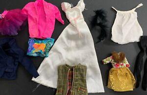 Vintage-1970-s-2000-s-Mattel-BARBIE-Doll-Clothing-Lot-RARE-Dress-Skirts