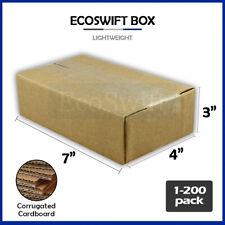 1 200 7x4x3 Ecoswift Cardboard Packing Mailing Shipping Corrugated Box Cartons
