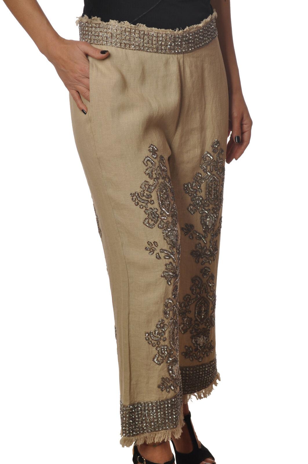 Twin Set - Pants-Pants - Woman - Beige - 6249601E191643