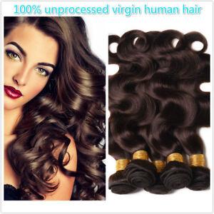 2-dark-brown-100-Human-Hair-Indian-Body-Wave-Bundles-Extensions-Hair-Weft