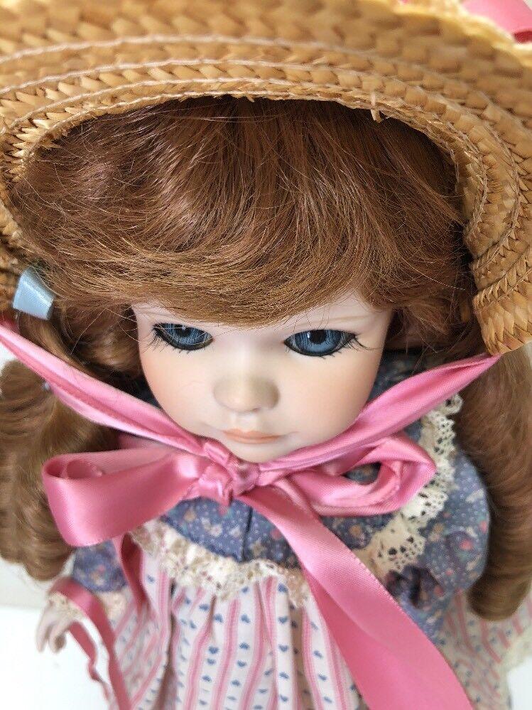 """18"""" Porcellana Bellissima Oca Biondo """" Oca Bellissima Girl"""" Bambola di Jerry con Anatra 8819 674994"""