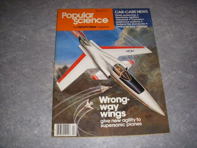 Popular Science Magazine April 1980 Wrong Way Wings