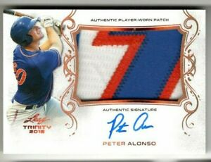 PETER-PETE-ALONSO-2018-Leaf-Trinity-ROOKIE-AUTO-JUMBO-JERSEY-Sick-PATCH-SP-RC