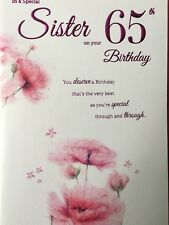 Item 3 Sister 65th Birthday Card