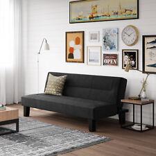 Kebo Futon Sofa Bed Large Single Sleeper Microfiber Convertible Couch Black