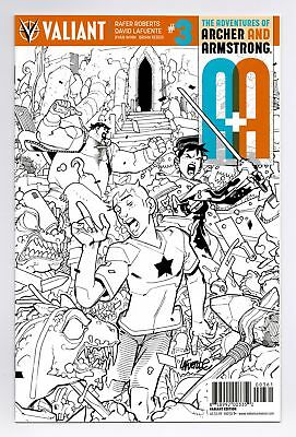 A&a Archer Armstrong 2016 #3 1:50 Lafuente B&w Variant Valiant Vei Nm/vf