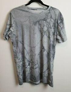 Globe-Men-039-s-Grey-Marble-Pattern-T-Shirt-Size-M