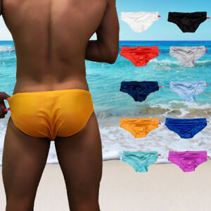 d05f85792bf Men Swim Trunks Bikini Briefs Bulge Pouch Underwear Swimming Shorts ...