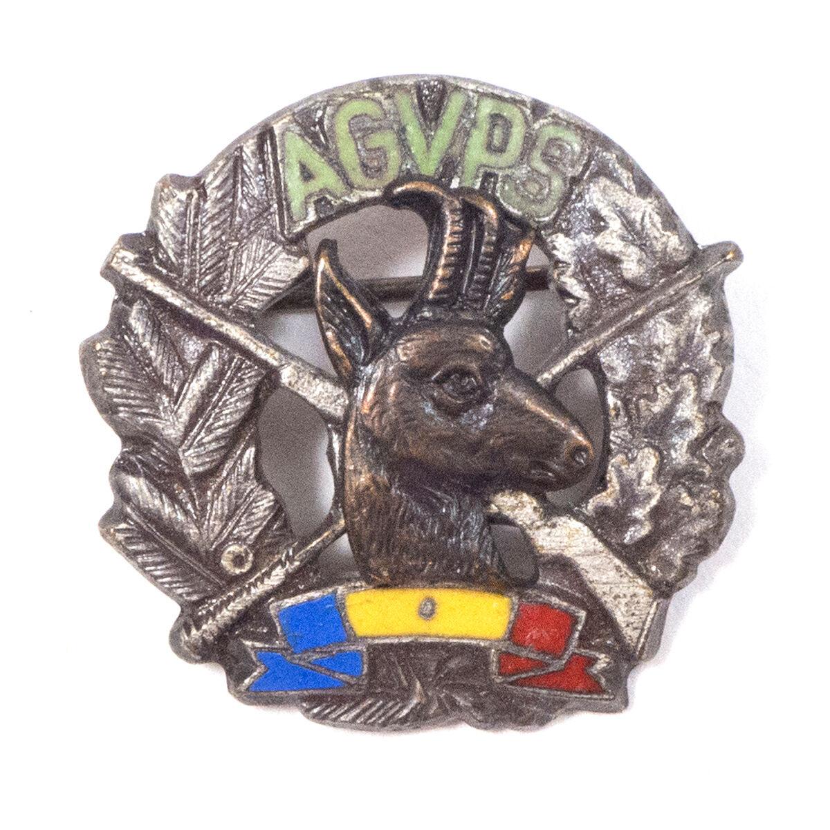 Vintage Vintage Vintage Agvps Fischen & Jagd Vereinigung Rumänien Pin Abzeichen .203cm 32437f