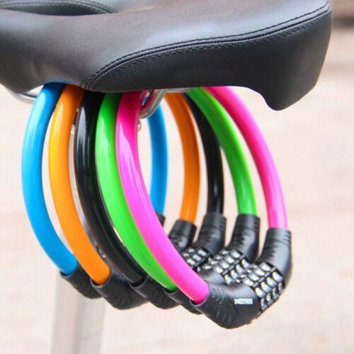 Kabel Fahrradschloss Hochsicheres 4-stelliges Passwort-Zahlenschloss @97k uy