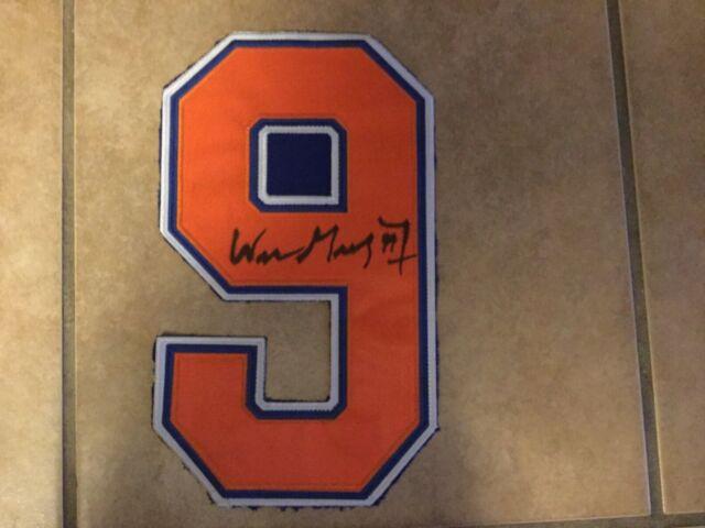 Wayne Gretzky Edmonton Oilers Signed Jersey Number!
