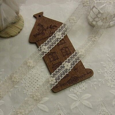 5yards Antique Style scalloped Embroidery Cotton Fabric Crochet Lace Trim 1.2cm