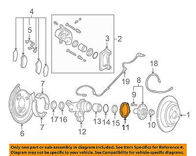 SUBARU OEM Impreza Forester Brake Rear ABS Rotor Left 26750AA014