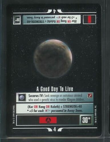 Star Trek BOG RARE A Good Day to Live NM//M