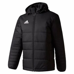 Details about Adidas Performance Mens Tiro 17 Winter Jacket Black Quilted Sports Football Coat