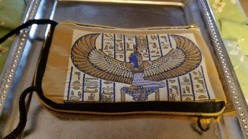 Egyptian Motif Zippered Phone//Wallet Purse