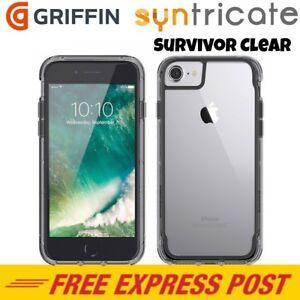 Griffin-Survivor-Clear-Rugged-Slim-Case-for-iPhone-8-Plus-7-Plus-6S-Plus-Smoke