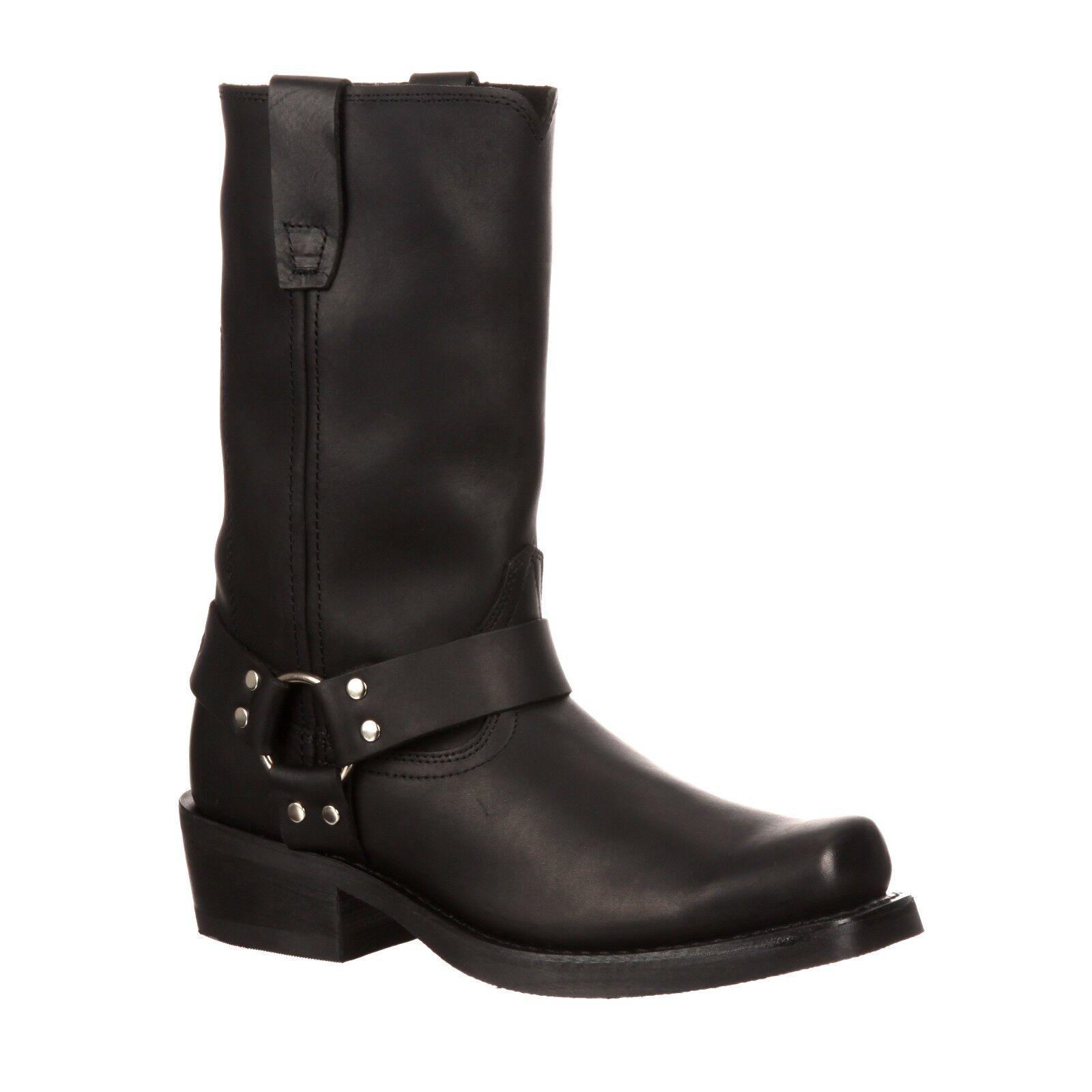 Durango Men's Black Harness Square Toe Cowboy Boots DB510 NIB