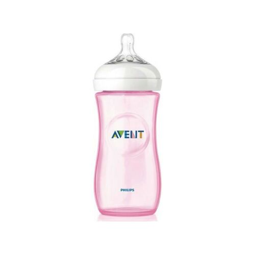 AVENT biberon natural tettarella in silicone 330 ml rosa