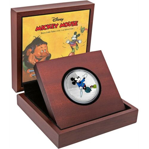 Brave Little Tailor 1 oz Silver Coin Disney Classics Mickey Through the Ages