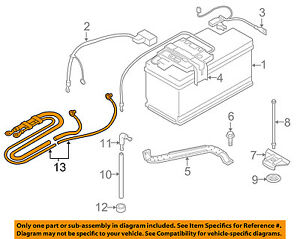 Details About Bmw Oem 07 13 328i Battery Cable 61129125036