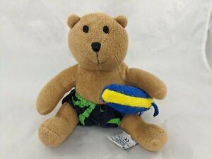 "Baby Gap Terry Cloth Bear Plush 6"" Laughs Swim Trunks Stuffed Animal Toy"