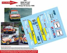 DÉCALS 1/43 réf 679  BMW M3 GrF  ROUILLARD 1er Rallye St Geniez 1998