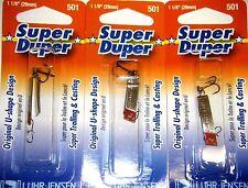 LUHR JENSEN SUPER DUPER TROUT FISHING LURES #1303-501-0130 NICKLE REDHEAD 3 PK