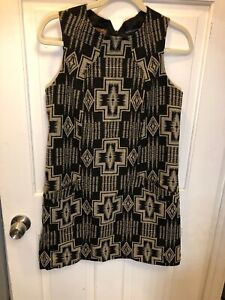 124 Pendleton Portland Collection Euc Fully Lined Aztec Print Shift Dress M Ebay