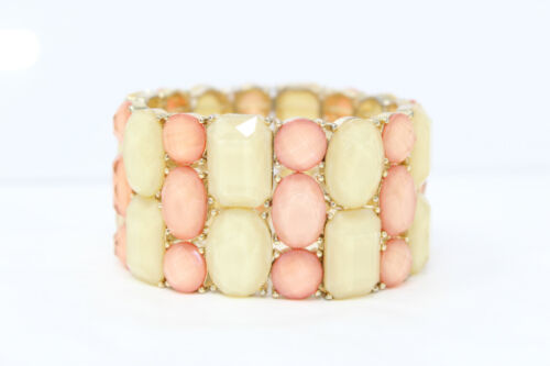 Charm Bracelet Bracelet B62 Stretch Bracelet Memory wire Goldtone