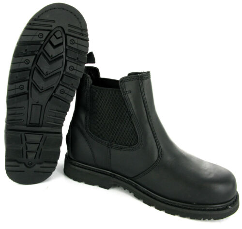Northwest Leather Goodyear Welted Safety Dealer Mens Work Boots Size 6-12 UK