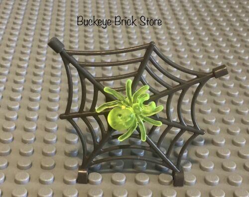 LEGO gris foncé toile d/'araignée avec Trans Neon Green Spider