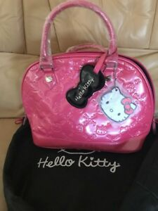 Hello-Kitty-Sanrio-Pink-Patent-Leather-Embossed-Loungefly-Bag-W-Dust-Bag-NWT