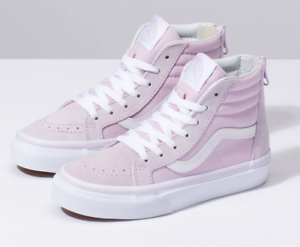 7a2666b5e6d VANS KIDS SK8-Hi Zip Lavender Fog  True White All Sizes 11- 7 Fast ...