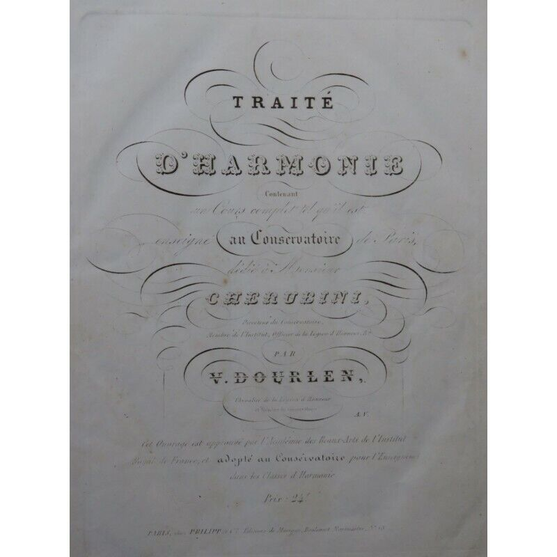 DOURLEN Victor Traité d'Harmonie 1838 partition sheet music score