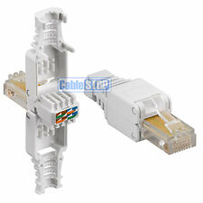 2 x Cat 5e RJ45 Ethernet Cable Connector NEW - NO CRIMPING TOOL NEEDED