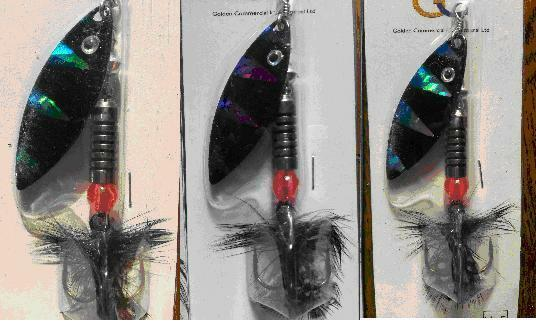 SP01C-407036 UK STOCK! 5 x FRED-X Rainbow Flyer Tiger Blade Spinners 11.5g