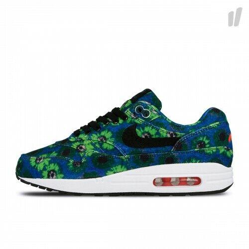 separation shoes 9cb1a 270ae New Nike Air Max 1 Premium SE Floral Mowabb Blue Mens 2018 90 95 97 858876  002