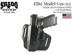 SHADO-Leather-Holster-USA-Elite-Model-G19-112-Left-Hand-Black-OWB-Glock-19-Brand